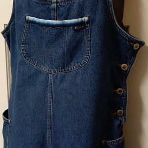 Vintage ROUTE 66 Blue Jean Overall Shorts